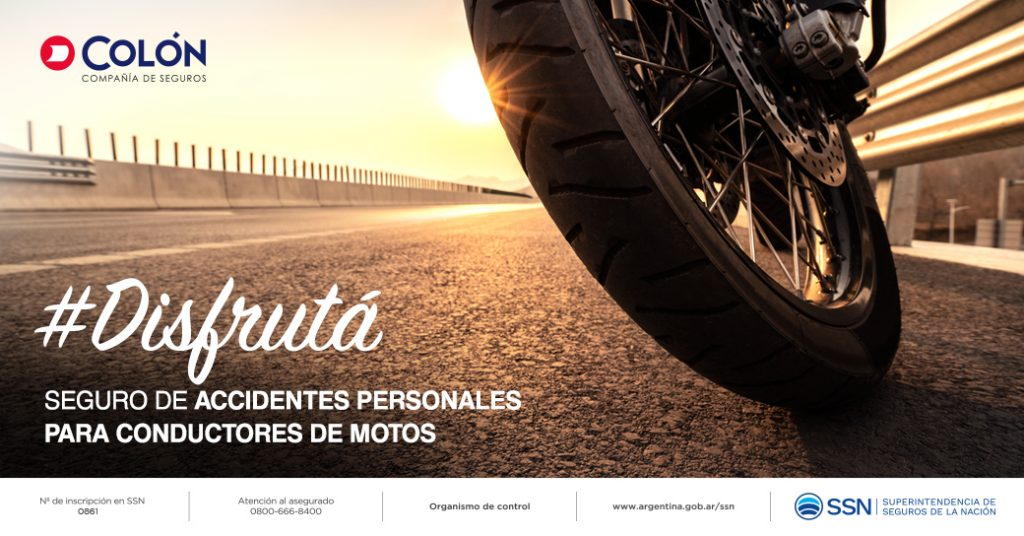 Seguro de accidentes personales para conductores de motos